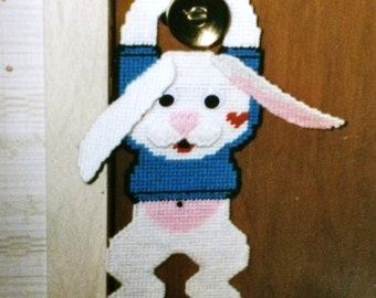 Hoppy Bunny Doorknob hanging