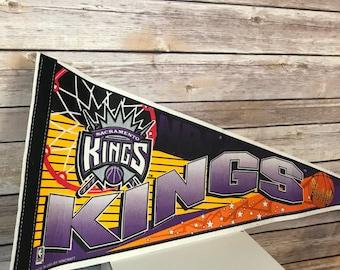Vintage NBA Sacramento Kings Basketball Pennant