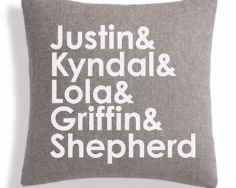Personalized Name Pillow - 18x18