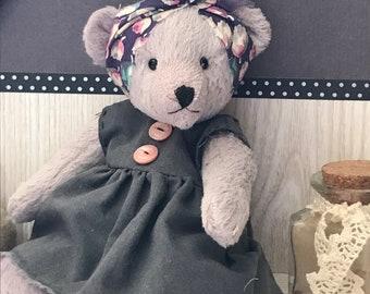 Bear bear Teddy bear OOAK Hand made handmade