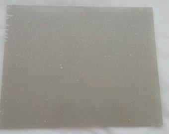 5-8x10 inch Transparent Plastic Blank