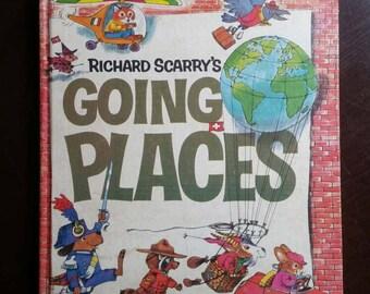 Richard Scarry's Going Places 1971 vintage children's book 2321 anc2