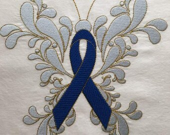 Beautiful Awareness Ribbon Butterfly for Machine Embroidery