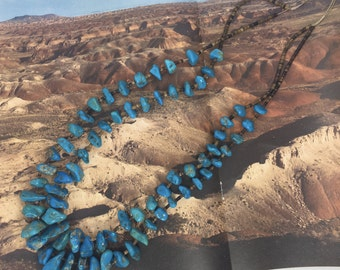 Fabulous Navajo Turquoise Nugget Necklace
