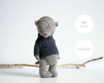 PDF Sewing Pattern & Tutorial Mohair Teddy Bear 7,5 Inches Artist Teddy Bear Pattern Stuffed Animal Pattern Plush Pattern Soft Toys