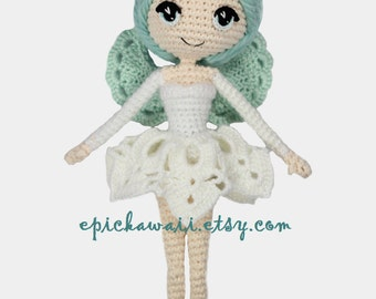 PATTERN: Luciella the Winter Fairy Crochet Amigurumi Doll