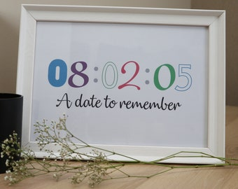 A Date to Remember Personalised Print