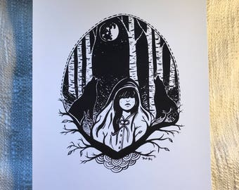 The Wolves at Night - Print