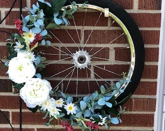 Bike Tire Wreath