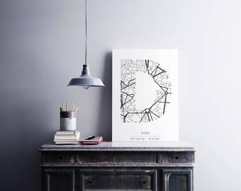 Poster Dijon - Monogram (A4)