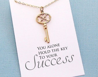 Graduation Gift   Inspirational Skeleton Key Necklace, 2018 Graduation, College Student Gift, Class of 2018, Medical Student Gift   G05