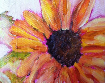 Sunflower oil on canvas
