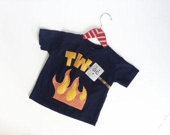 Any Age Birthday Toasted Marshmallow Camping Birthday Shirt