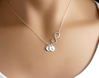 Personalized gift for mom, Christmas gift, Mothers necklace, Personalized Infinity Mothers birthstone necklace Kids initial necklace grandma