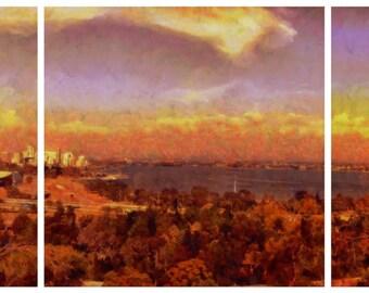 Perth Impressions - triptych canvas print