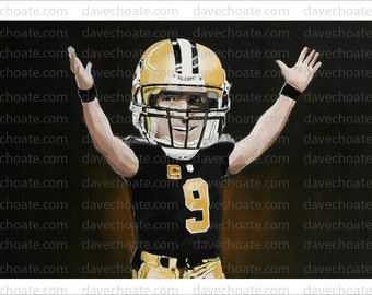 Drew Brees, New Orleans Saints Art Photo Print