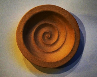 Kay's Graceful Swirl Cookie Mold -Small Size in Stoneware.  Food- Safe and Dishwasher Safe High Fire Ceramic