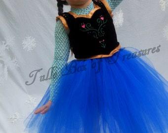 Wintery Blue tutu costume VEST