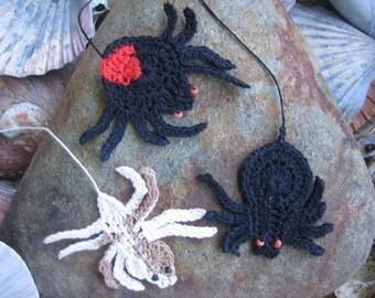 Australian Killer Spiders - crochet patterns bookmarks and motifs