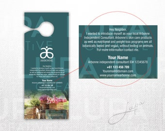 Arbonne Small Door Hanger (03) - digital file supplied only