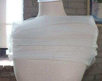 Bridal Wrap Wedding Cover Up in Tulle White or Ivory