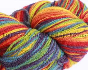 KAUNI Estonian Artistic  Gradient Yarn Rainbow 8/2, Art Wool  Yarn for Knitting, Crochet