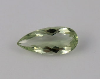 1 Pcs Natural Green Amethyst Faceted Gemstone,21x10 mm 8 Cts  Pear Shape, Normal Cut Loose Gemstone, Jewelry making, Green Amethyst Gemstone