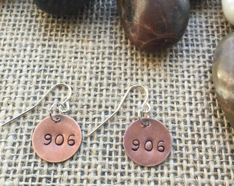 906 Michigan Earrings, Michigan Pride, Upper Michigan, Yooper (LL54)