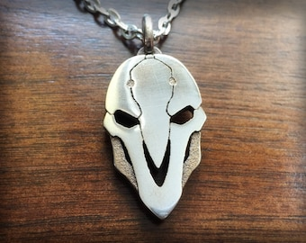Overwatch Reaper Stainless Steel 3D Printed Pendant and Keychain