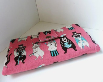 Must have wallet - Circus animals in pink