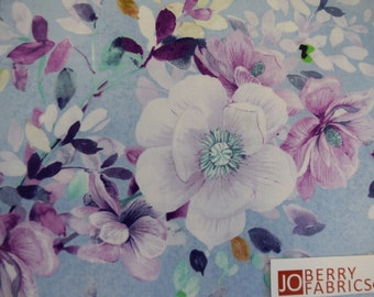 Floral Print from the Jacqueline Collection by Studio 8 for Quilting Treasures.  Quilt or Craft Fabric.  Fabric by the Yard.