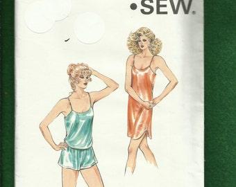 1986 Kwik Sew 1585 Camisole Boxer Shorts & Slip with Spaghetti Straps Sizes XS to S