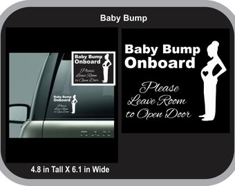 Baby Bump Onboard Decal, Pregnancy Decal