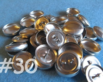 50 Cover Buttons - 3/4 inch - Size 30 wire backs/loop backs covered buttons notion supplies diy refill