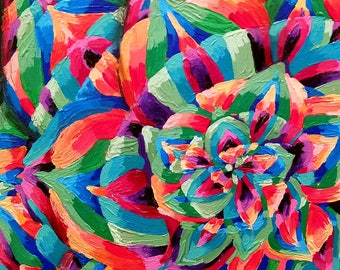 Colorful Radial Petal Painting