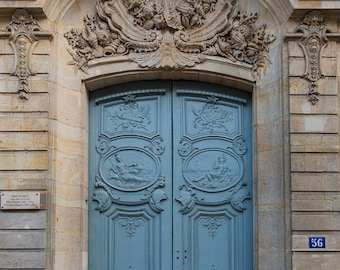 Paris Photography - Travel Photograph, The Most Beautiful Door in Paris, Architectural Fine Art Print, French Home Decor, Large Wall Art