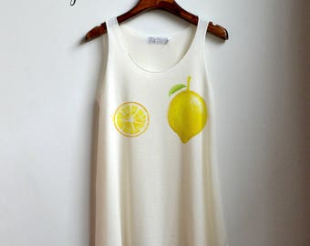 Citroen Shirt - Fruit boob Tank Top - boob tieten Tank Top - citroen bikini kleding Tank Top Womens
