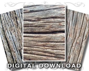 3 Rustic Wood Background Images | Weathered Boards Clip Art Photos | Natural Aged Wood Texture | Small Business Commercial Use | Wood04