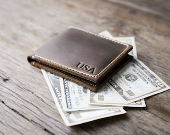 Big Texas Wallet, handmade PERSONALIZED wallet, Manly Mans Leather Bifold Wallet , Mens Leather Wallets - Fits all Currencies - [063]