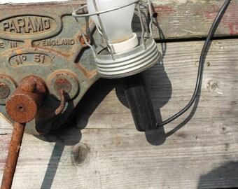 Industrial vintage black cage lamp