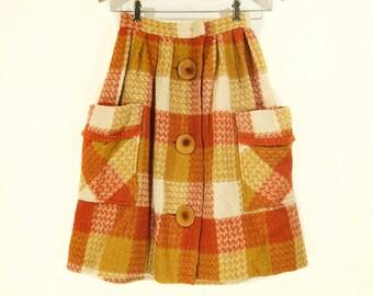 "Vintage 60's Girl's Wool Skirt 21"" Waist"