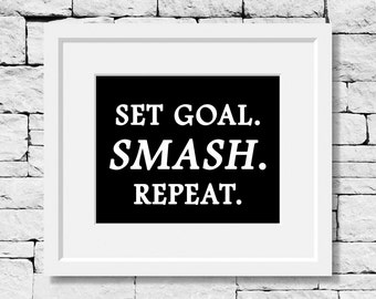 Goals Quote, Perseverance Quote, Entrepreneur Quotes, Success Quote, Motivational Print, Fitness Quotes, Motivational Quote, Goal Prints