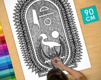Poster / Poster deco coloring (90cm) cartridge - coloring for adults
