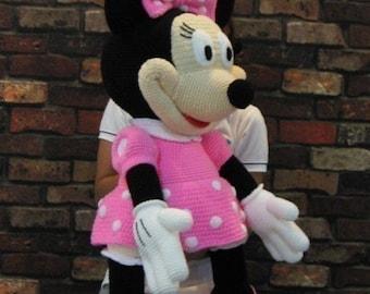 Minnie Mouse 35 inches - PDF amigurumi crochet pattern