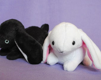 Lop Eared Bunny Plushie - CHOOSE YOUR COLORS Made to order
