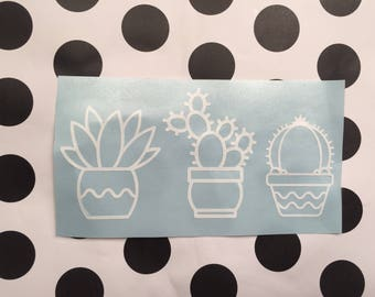 Cactus Decal, Succulents Decal, Yeti Decal, Cute Cactus Decal, Cactus Laptop Decal, Water Bottle Decal, Car Decal, RTIC Decal, SIC Decal