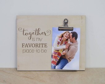 Anniversary Gift For Couples, Custom Picture Frame, Wedding Anniversary Gift For Her, Personalized Photo Frame, Valentine's Day Gift For Him