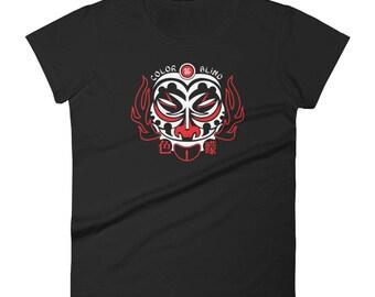 Asian Style Colorblindartist Women's short sleeve t-shirt