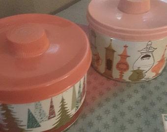 Vintage Candy Tins Set