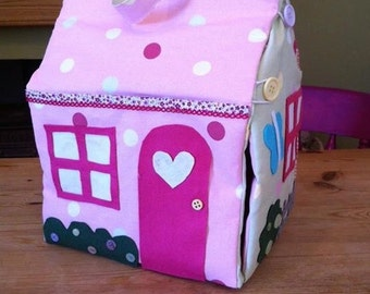 Fabric take-along dollhouse